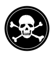 Pirate black mark vector image