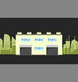 warehouse logistics building vector image