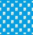 10 date calendar pattern seamless blue vector image