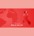 1st december world aids day concept banner vector image vector image