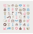 49 hand drawing doodle different icon set sketchy vector image vector image