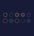 a set different geometric shapes in modern vector image