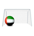 a soccer ball with united arab emirates flag vector image vector image