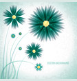 abstract green flowers background vector image vector image