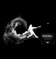 Abstract silhouette of a baseball player batter