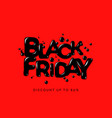 black friday sale banner poster logo on red vector image vector image