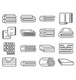 blanket cover icons set outline style