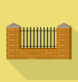 brick barrier icon flat style vector image