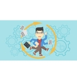 Businessman coping with multitasking vector image vector image