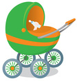 child in a stroller vector image vector image