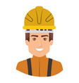 colorful portrait of half body firefighter vector image