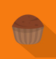 cup cake icon flat style vector image
