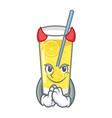 devil lemonade mascot cartoon style vector image vector image