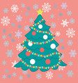 drawings for christmas image of christmas tree on vector image
