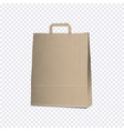 empty carrier brown bag on transparent background vector image vector image