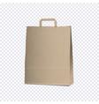 empty carrier brown bag on transparent background vector image vector image