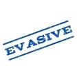 Evasive Watermark Stamp vector image vector image