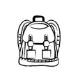 figure backpack object with pockets and closures vector image vector image