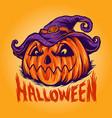 freaky halloween pumpkin vector image vector image