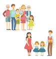 Full Families Posing Together vector image vector image