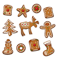 Gingerbread cookie xmas vector image vector image