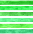 Green banner background set