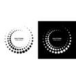 halftone circle frame dots frames set vector image vector image
