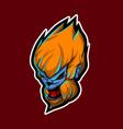 head monkey kong for esport logo template vector image vector image
