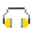 hearing protection headphones pixel art cartoon vector image