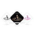 jj initial letter and graphic name jj monogram vector image vector image