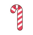 kawaii christmas candy cane sweet fun vector image