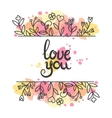 Love card card Hand drawn lettering design vector image vector image