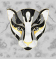 marble abstrsct panther head on seamless marble vector image