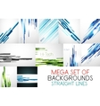 Mega collection of straight lines backgrounds vector image vector image
