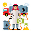 middle east oil industry flat style vector image vector image