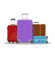 modern and vintage travel bag vector image vector image