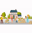 moving new home house or appartment people vector image