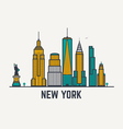 New York line view vector image