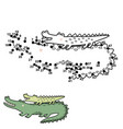 numbers game for kids with funny crocodiles vector image vector image