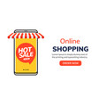 online mobile shop ecommerce order entertainment vector image vector image
