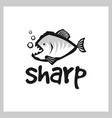 piranha logo design vector image vector image