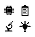 research simple related icons vector image vector image