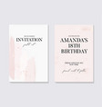 save date birthday invitation with tender vector image vector image