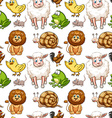 Seamless background with many animals vector image vector image