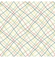 Seamless pattern with crossed wavy lines vector image