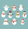 snowman icon for winter and christmas flat design vector image vector image