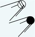 Soviet satellite vector image vector image