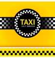 Taxi symbol square vector image vector image