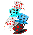 Tea cups pyramid vector | Price: 1 Credit (USD $1)