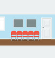 waiting room for patients in the dental office vector image